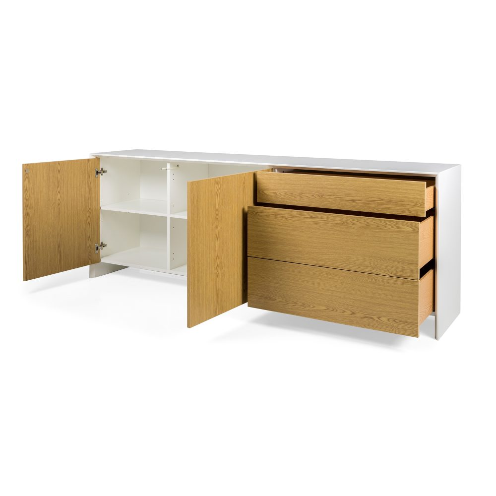 profil sideboard vit ek b 220 cm housebox. Black Bedroom Furniture Sets. Home Design Ideas